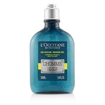 欧舒丹  L'Homme Cologne Cedrat Shower Gel Body & Hair  250ml/8.4oz