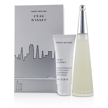 Issey Miyake L'Eau D'Issey Coffret : Eau De Toilette Spray 100ml/3.3oz + Moisturising Body Cream 75ml/2.6oz  2pcs