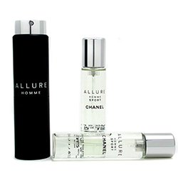 Chanel Allure Homme Sport Eau De Toilette Travel Spray (With Two Refills)  3x20ml/0.7oz