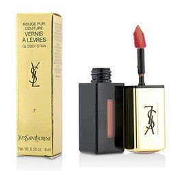 Yves Saint Laurent Batom Rouge Pur Couture Vernis a Levres Glossy Stain - # 7 Corail Aquatique  6ml/0.2oz