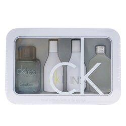 Calvin Klein Travel Edition Coffret: CK One Edt 15ml/0.5oz + CK Free Edt 10ml/0.33oz + IN2U Women Edt 15ml/0.5oz + IN2U Men Edt 15ml/0.5oz  4pcs