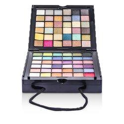 Cameleon MakeUp Kit 398: (72x Eyeshadow, 2x Powder, 3x Blush, 8x Lipgloss, 1x Mini Mascara, 6x Applicator)