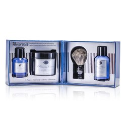 The Art Of Shaving The 4 Elements Of The Perfect Shave - Ocean Kelp (Pre Shave Gel+ Shave Crm+ A/S Lotion+ Brush)  4pcs