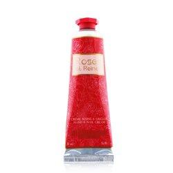 L'Occitane Roses Et Reines Hand & Nail Cream (Travel Size)  30ml/1oz