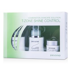 Pevonia Botanica Combination Skincare Solution - T-Zone Shine Control: Cleanser 50ml/1.7oz + Lotion 50ml/1.7oz + Cream20ml/0.7oz  3pcs