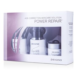 Pevonia Botanica Age-Correction Skincare Solution - Power Repair: Hydrating Cleanser 50ml + Hydrating Lotion 50ml + Marine Collagen Cream 20ml  3pcs