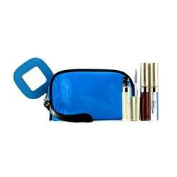 Kanebo مجموعة ملمع الشفاه مع حقيبة تجميل زرقاء (×3 Mode ملمع، ×1 حقيبة تجميل)  3pcs+1bag
