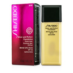 Shiseido Sheer & Perfect Base SPF 18 - # B60 Natural Deep Beige  30ml/1oz