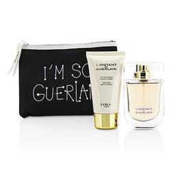 Guerlain Zestaw L'Instant De Guerlain Travel Coffret: Eau De Parfum Spray 50ml/1.7oz + Body Lotion 75ml/2.5oz + Bag  3pcs