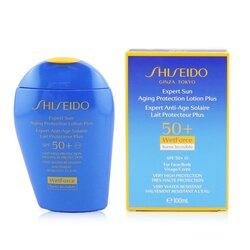 Shiseido Expert Sun Loción Protectora Edad Plus WetForce Para Rostro y Cuerpo SPF 50+  100ml/3.4oz