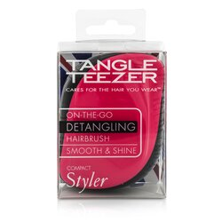 Tangle Teezer Compact Styler On-The-Go Detangling Hair Brush - # Pink Sizzle  1pc