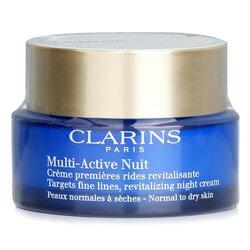 Clarins كريم ليلي مجدد للخطوط الدقيقة Multi-Active Night - للبشرة العادية إلى الجافة  50ml/1.6oz
