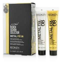 Redken Fashion Collection Metal Fix 08 Metallic Liquid Pomade (For Runway-Ready Silver and Gold Effects)  2x20ml/0.68oz