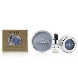 Stila Magnificent Metals Foil Finish Sombra de Ojos Con Mini Primer de Ojos Líquido - Metallic Cobalt  2pcs