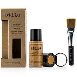 Stila Kit Stay All Day Base, Corrector & Brocha - # 12 Tan (Caja Ligeramente Dañada)