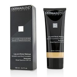 Dermablend Leg and Body Make Up Buildable Liquid Body Foundation Sunscreen Broad Spectrum SPF 25 - #Fair Ivory 10N  100ml/3.4oz