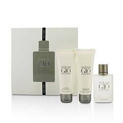 Giorgio Armani Acqua Di Gio Coffret: Eau De Toilette Spray 50ml/1.7oz + All Over Body Shampoo 75ml/2.5oz + After Shave Balm 75ml/2.5oz  3pcs