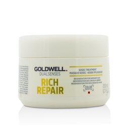 Goldwell Dual Senses Rich Repair 60Сек Средство для Волос (Регенерация для Поврежденных Волос)  200ml/6.7oz