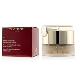 Clarins Skin Illusion Mineral & Plant Extracts Loose Powder Foundation (With Brush) (New Packaging) - # 112 Amber  13g/0.4oz