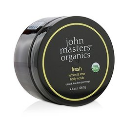 John Masters Organics Fresh Lemon & Lime Body Scrub 600362  136.2g/4.8oz