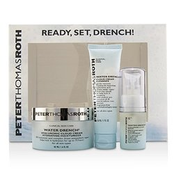Peter Thomas Roth Ready,Set,Drench! Water Drench Kit: Cleanser 30ml + Serum 15ml + Moisturizer 48ml  3pcs