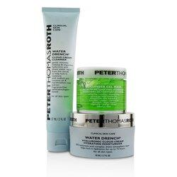 Peter Thomas Roth Soak It Up Kit: Water Drench Cloud Cream Moisturizer 50ml + Water Drench Cloud Cream Cleanser 57ml + Cucumber Gel Mask 50ml  3pcs