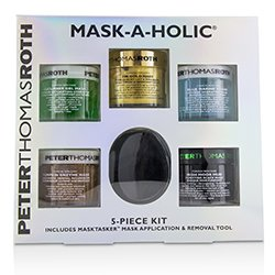 Peter Thomas Roth Mask-A-Holic Kit: Cucumber Gel Mask+Rose Stem Gel Mask+Pumpkin Enzyme Mask+Irish Moor Mud Mask+24K Gold Mask+ Masktasker  6pcs