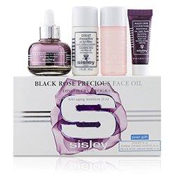 Sisley Black Rose Precious Face Oil Discovery Program: Face Oil 25ml + Lyslait 30ml + Floral Toning Lotion 30ml + Cream Mask 10ml  4pcs